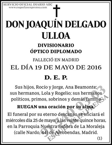 Joaquín Delgado Ulloa
